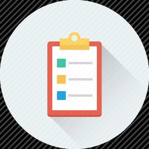 checklist, clipboard, plan list, schedule, todo icon