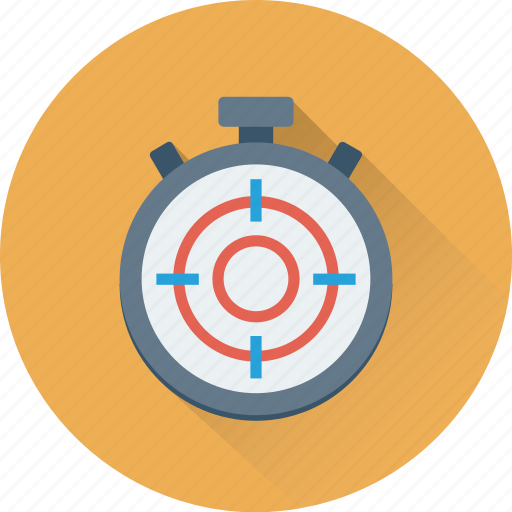 Aim, dartboard, deadline, stop watch, stopwatch, target, timer icon - Download on Iconfinder