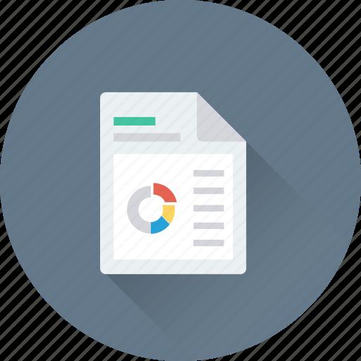 bar graph, business report, graph report, pie graph, report icon