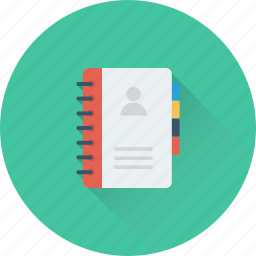 address book, biography, contact book, contacts, phone directory icon