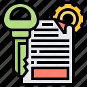 access, category, description, keyword, reach icon