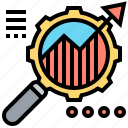 analysis, business, growth, marketing, research icon