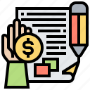 articles, content, paid, publish, read icon