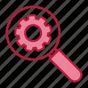 configuration, engine, search icon