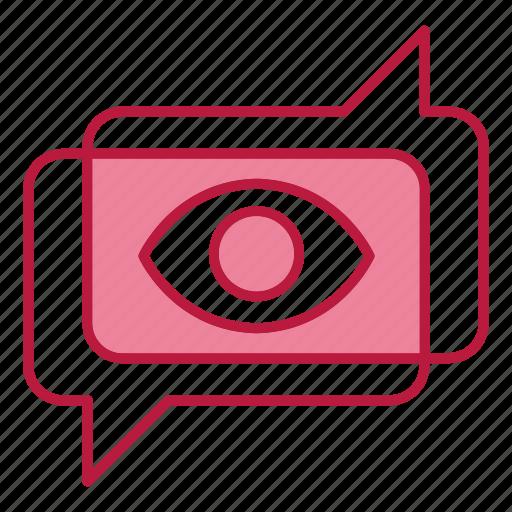 chat, digital, eye, marketing, viral icon