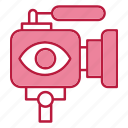 camera, live, streaming, videocam icon