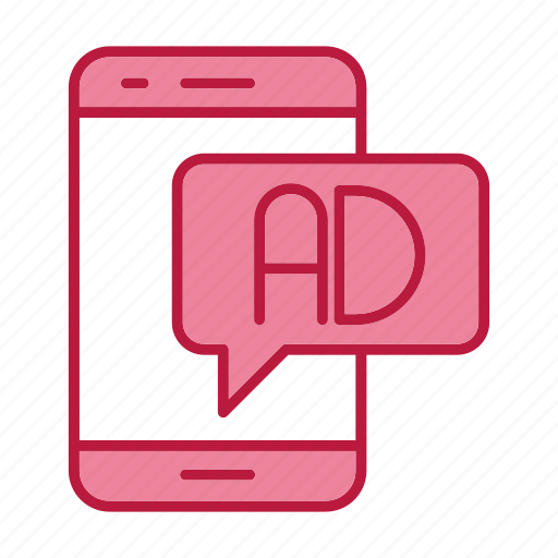 ad, advertising, mobile, promotion icon