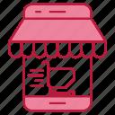 digital, engagement, market, mobile, shopping, user icon