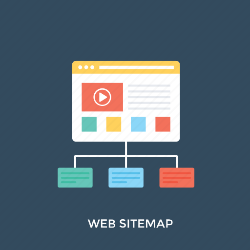 site map, site plan, website flowchart, website map, website wireframe icon