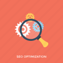 code optimization, keywording, search engine optimization, seo, seo optimization icon