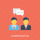 communication, conversation, dialogue, discussion, gossip icon
