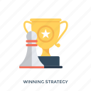 planning to success, success concept, success strategy, winning plan, winning strategy icon