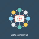 social media, social network, viral advertising, viral campaign, viral marketing icon
