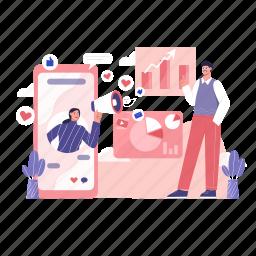 vector, marketing, increase, revenue, social media