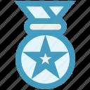 award, award ribbon, badge, ranking, star badge icon