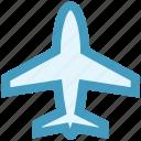 aero plane, airliner, airplane, flight, fly, plane, transport icon