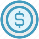 cash, coin, digital marketing, dollar, dollar coin, money icon