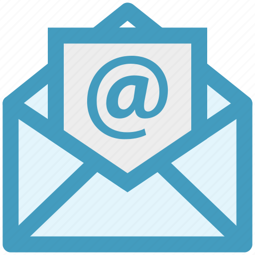 at digital envelope mail message open envelope open letter icon