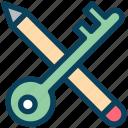 digital, marketing, pencil, key, creativity, security