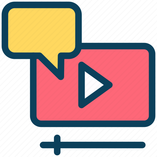Digital, marketing, media, video, comment, multimedia icon - Download on Iconfinder