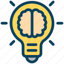 digital, marketing, idea, brain, creativity, bulb, light