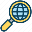digital, marketing, search, world, global, magnifier, glass