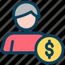 digital, marketing, account, money, businessman, dollar