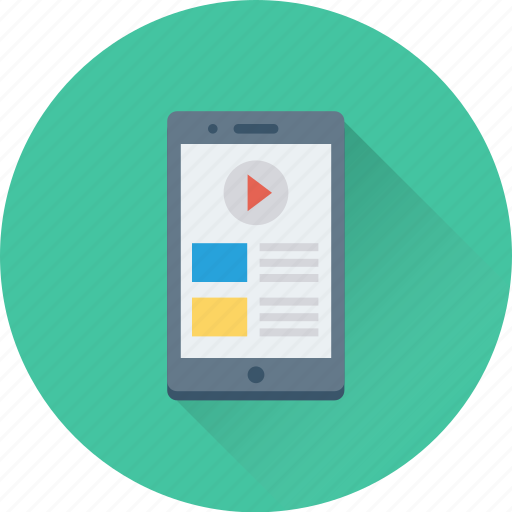 media player, mobile, mobile media, music player, video player icon
