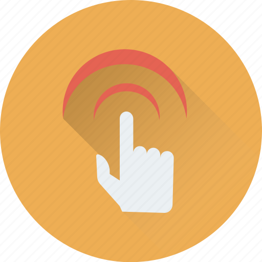 click, finger gesture, finger pointing finger, press finger icon
