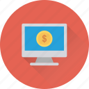 ecommerce, monitor, online business, online earning, online work icon