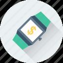 business, dollar, finance, watch, wristwatch