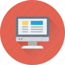 article, compose, monitor, web, website icon