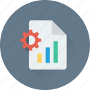 bar graph, cog, cogwheel, graph report, preferences icon