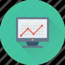 analytics, line graph, monitor, online graph, statistics