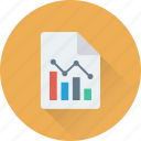 business report, graph report, loss, report, statistics icon