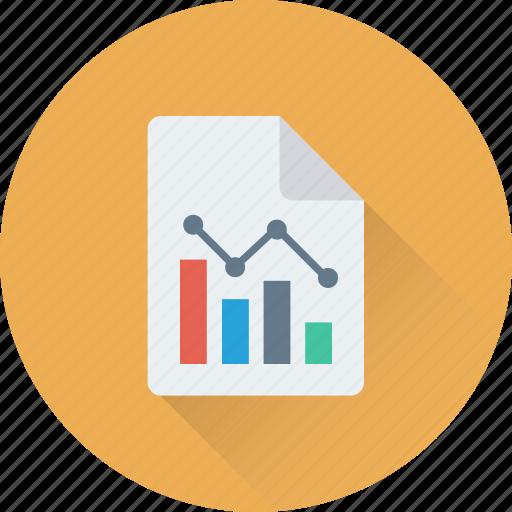 business report, graph report, loss, report, statistics icon