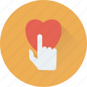 finger, hand gesture, heart, love, touch icon