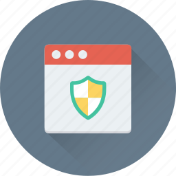 internet, internet security, shield, web security, website icon