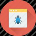 bug, malware, virus, web error, webpage