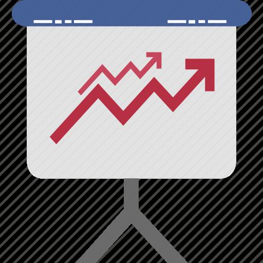 board, business growth, graph board, graph presentation, growth graph, presentation, statistics icon