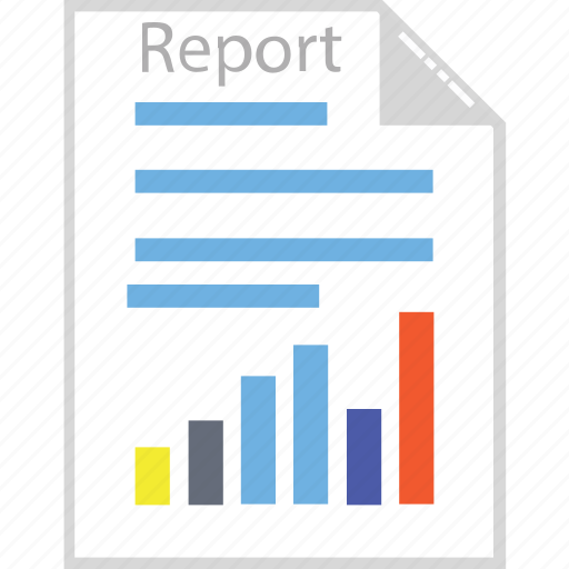 business report, graph papers, graph report, sale report, statistics, stock analysis icon