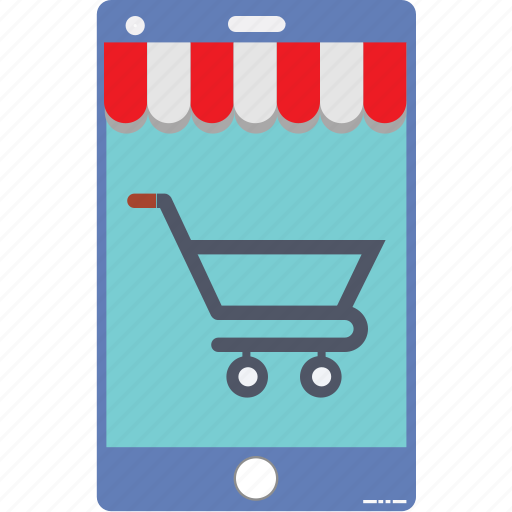 e commerce, m commerce, online shop, online shopping, shopping app, shopping basket, trolley icon
