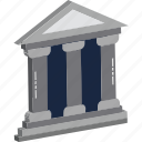 bank, bank building, banking, building, building structure, finance, stock exchange icon
