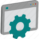 cog, gear, optimization, screen settings, settings, web settings, website customize icon