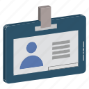 employee card, id access, id badge, id card, identity card, student card, volunteer card icon