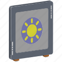 bank locker, bank vault, locker, money box, safe, safe box icon