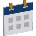 calendar, calendar date, day, event, hanging calendar, organize event, schedule icon