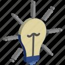 bright idea, brilliant idea, budget plan, bulb, idea, innovation, knowledge icon