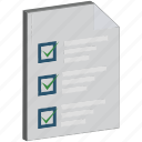 checklist, checkmark, prescriptions, report, to do