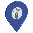 bank location, gps, internet location, location, map pin, mouse inside pin, mouse location icon